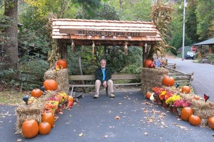 John at Twin Creek RV Park - Autumn pumpkin display