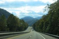 I-40 route to Cataloochee - terrific views of mountains