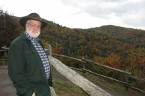 10-24-13 AJ at scenic overlook - Cataloochee