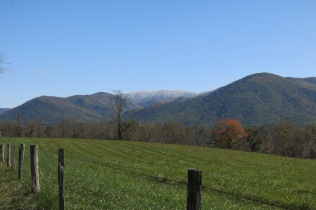 10-25-13 Cades Cove, with view of snowy ridge to rear