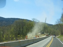 Lots of road work happening along Newfound Gap Road