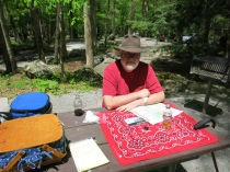 first picnic in the park at Chimney Tops picnic area