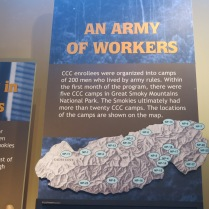 Locations of CCC Camps in the Great Smokies