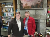My good friend Kristina Plaas, from FaceBook and Great Smokies wildflower photos... I met her today at Clingman's Dome visitor center where she volunteers every week.