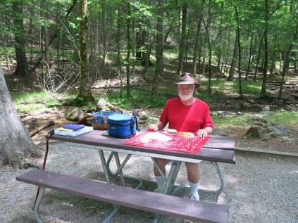 John at Cades Cove Picnic Area, Great Smoky Mountains NP