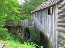 John P Cable Grist Mill and water flume and wheel