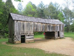 Drive through barn, Cades Cove, Great Smokies