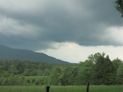 Storm coming in over Cades Cove, Great Smokies