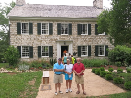 Gil & Nancy, and John at the Daniel Boone House - June 2014. No photography was allowed inside.
