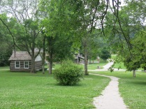 the path to the village from the Daniel Boone Home - Defiance, MO - June 2014