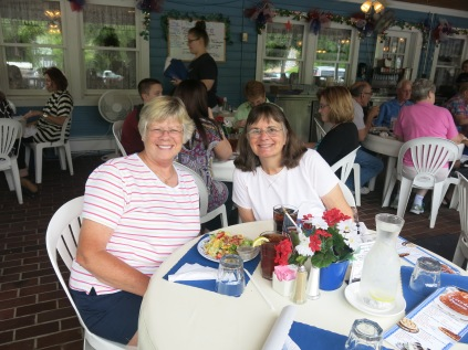 Nancy and Holly at the Blue Owl Restaurant - Kimmswick, MO - June 9, 2014