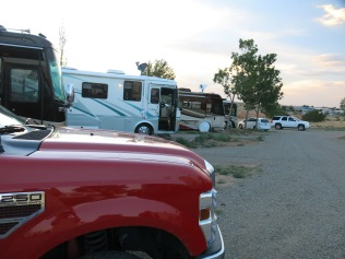 I have never seen so many Class A RVs or such variety in the models before...