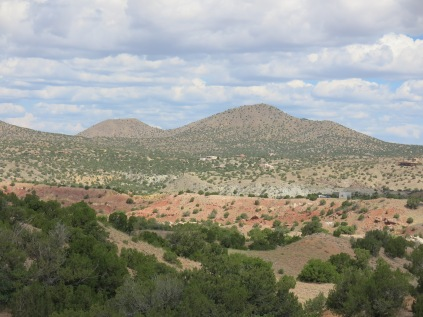 driving the Turquoise Trail from Santa Fe to Cedar Crest
