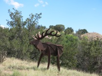 We stopped at the Turquoise Trail Sculpture Garden...