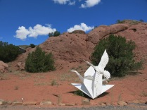 stainless steel origami, Turquoise Trail Sculpture Garden
