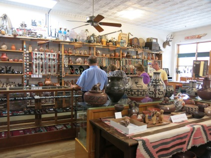 inside the Henderson General Store, Turquoise Trail