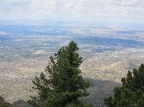 view of Albuquerque from Sandia Crest