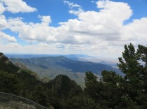 view from the top of Sandia Crest