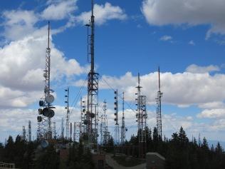 Steel Forest atop Sandia Crest...