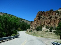 access road to Bandelier National Monument, Los Alamos, NM