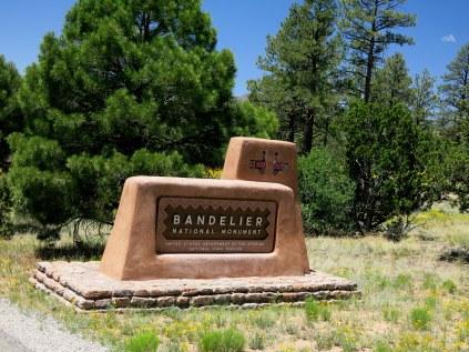 Bandelier National Monument entrance
