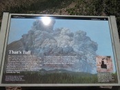 display about Tuff and the cliffs...