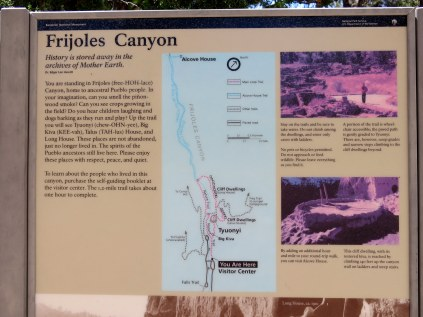 map and info about Frijoles Canyon