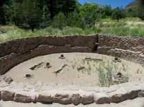 The kiva was an important part of the ceremonial cycle and culture. It was a center of the community, not only for religious acivities, but also for education and decision-making.