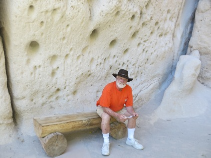 I sat on every bench climbing the trail to the cliff dwellings...