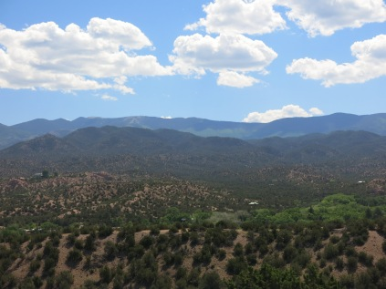 heading to Los Alamos from Santa Fe...