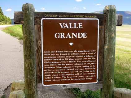Historic Marker - eruptions in the Valles Caldera