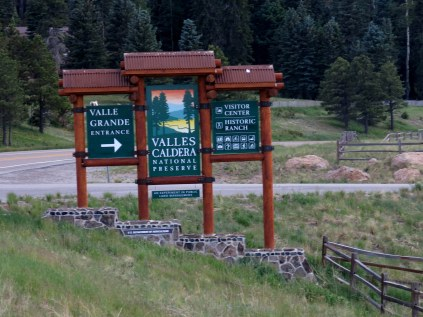 entrance to Valles Caldera National Preserve