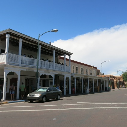 Restaurants and shops around Santa Fe Plaza