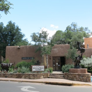 building code requires adobe buildings in Santa Fe... Santa Fe Cafe and Mountain Trails Galleries