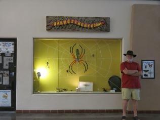John outside Harrell House of Oddities (Bug Museum), Santa Fe