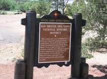 historic marker by the side of the road...
