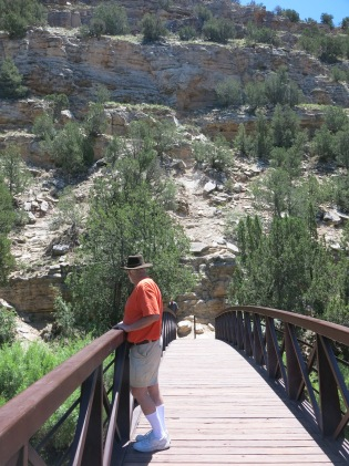 footbridge over the Pecos River, Villanueva SP