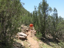 heading up the trail...