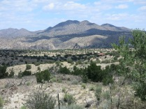 Sangre de Cristo Mountains on NM 14 S on the way to Madrid