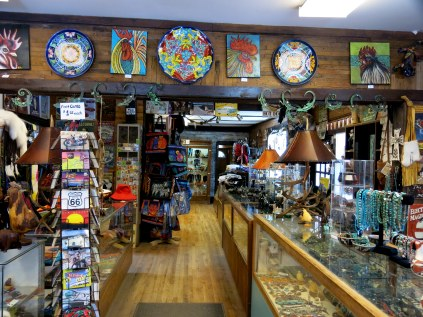 inside the trading post...