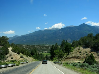 Enchanted Circle Scenic Byway - first leg NM Hwy 68 to Questa along Rio Grande River