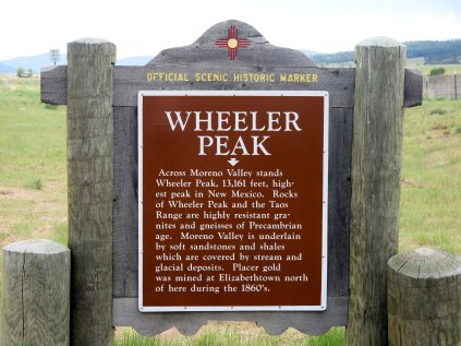 Wheeler Peak historic marker - NM Hwy 64