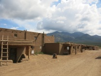 inside the Taos Pueblo