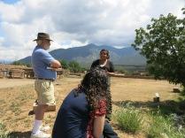 John talking to Shimona (sp) - our tour guide