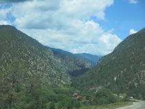 on the way to Taos Ski Area