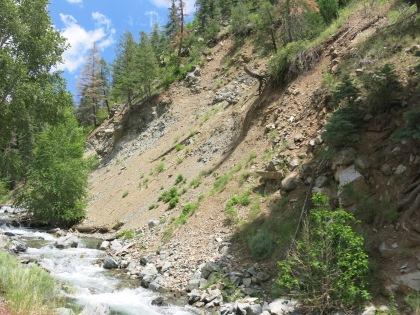 stream alongside the road