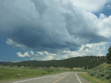 storm clouds building near Chama on NM Hwy 64