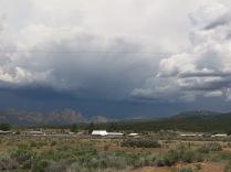 heavy storm clouds... we had rain and sleet
