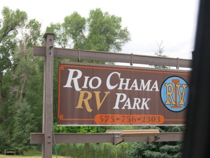 our RV Park in Chama, NM