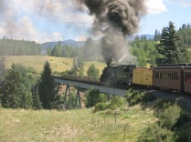 Cumbres & Toltec Scenic Railway - Lobato Trestle - second highest bridge on the line, crossing 100 feet above Wolf Creek, CO